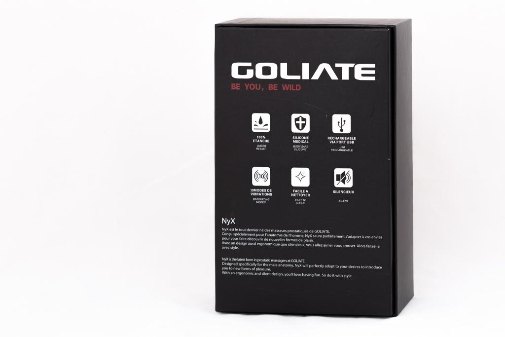 Face arrière boîte Goliate Nyx